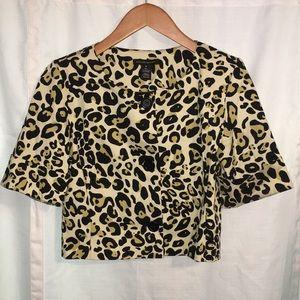Courtenay  Short blazer , cheetah print size 6
